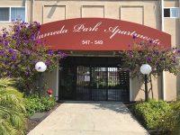 Street entrance to Building A, 547 Buena Vista Ave.