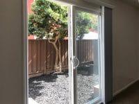 1 bedroom floorplan, patio door from bedroom