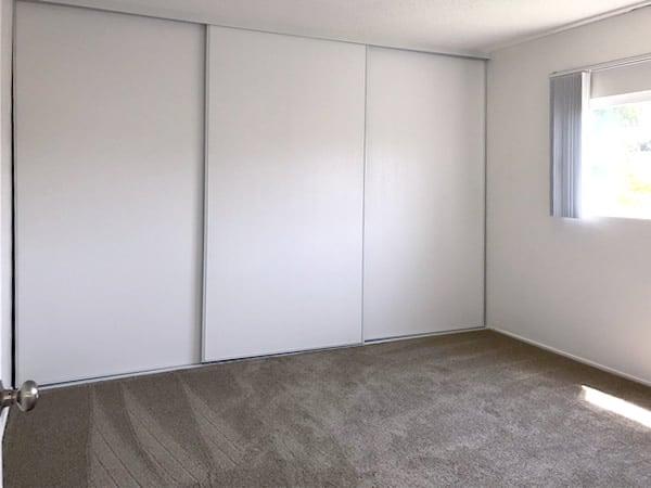 Closets, full room width