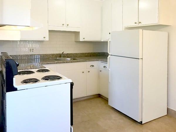 1 bedroom floorplan, kitchen
