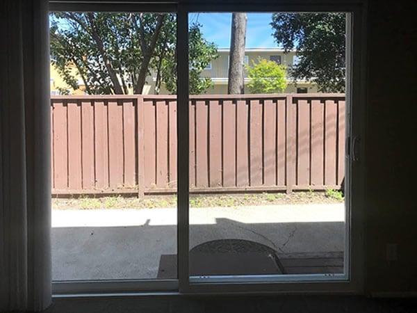2 bedroom ground floor, patio door from living room
