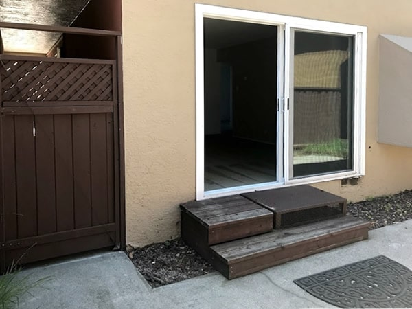 2 bedroom ground floor, large patio with side gate