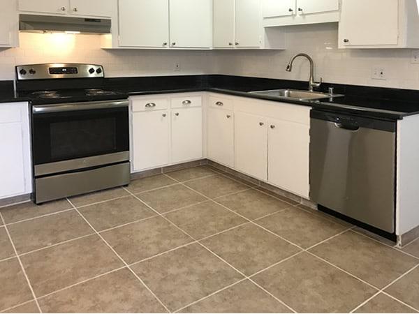 Upgraded kitchen with dishwasher